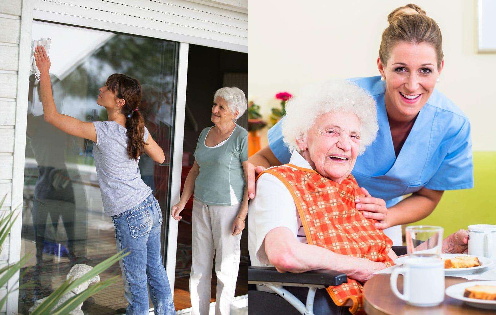 Hilfestellung und Betreuung von Senioren